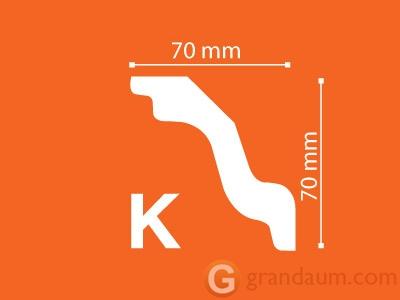 Потолочный плинтус с гладким профилем NMC K