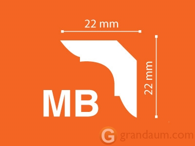 Потолочный плинтус с гладким профилем NMC MB