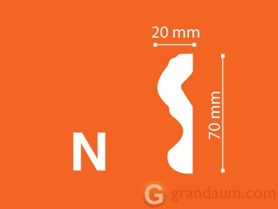 Потолочный плинтус с гладким профилем NMC N