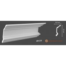 Карниз с гладким профилем Decomaster A-177
