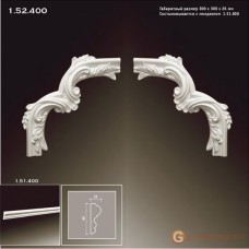Угловые элементы и вставки Европласт 1.52.400 Уголок У-400
