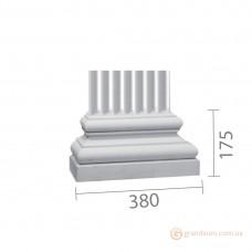 База колонны из гипса б-69 (пилястра)