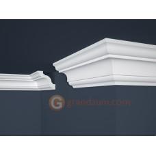 Потолочный плинтус с гладким профилем, багет Marbet E16