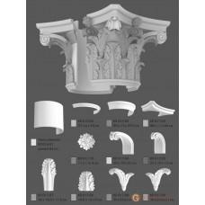 Базы и капители Modus decor КЛ 017.04