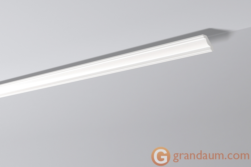 Потолочный плинтус с гладким профилем NMC J