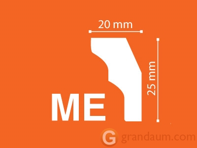 Потолочный плинтус с гладким профилем NMC ME