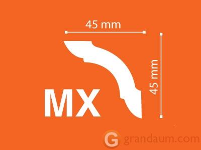 Потолочный плинтус с гладким профилем NMC MX