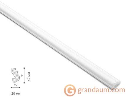 Потолочный плинтус с гладким профилем NMC O